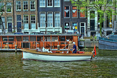 Art Print featuring the photograph Amsterdam Canal Scene 10 by Allen Beatty