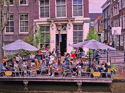 Photograph - Amsterdam Canal Scene 4 by Allen Beatty