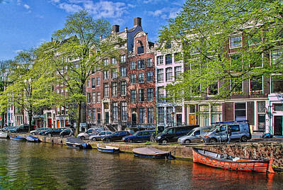 Photograph - Amsterdam Canal Scene 6 by Allen Beatty