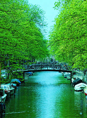 Photograph - Amsterdam Canal Scene 8 by Allen Beatty