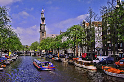 Photograph - Amsterdam Canal Scene 9 by Allen Beatty