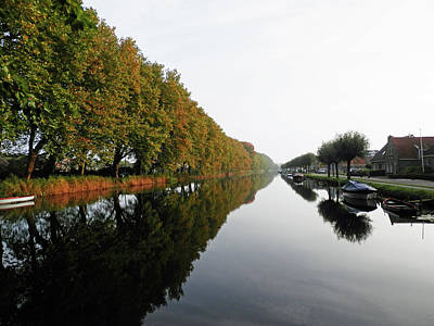 Photograph - Canal Scene In Edam by Pema Hou