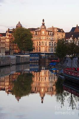 Canal Singel In Amsterdam. Netherlands. Europe Art Print by Bernard Jaubert