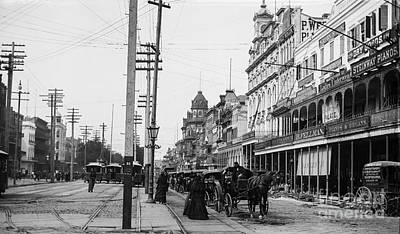 Canal St. New Orleans Ca 1880  Art Print