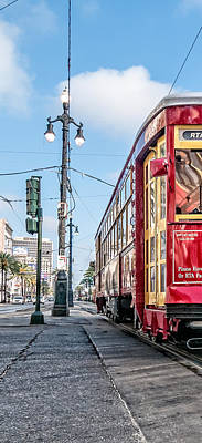 Photograph - Canal Street Streetcar Triptych-left by Andy Crawford