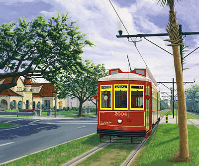 Canal Street Streetcar Version Two Cropped Art Print