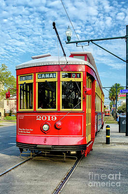 Photograph - Canal Streetcar To Cemeteries by Kathleen K Parker
