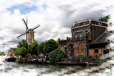 Photograph - Canal Utrecht Holland by Hugh Smith