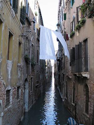 Venise Photograph - Canal. Venice by Bernard Jaubert