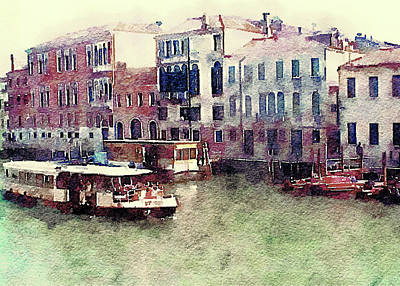 Mixed Media - Canal Villoresi by Susan Maxwell Schmidt