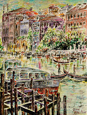 Painting - Canale Grande by Alfred Motzer