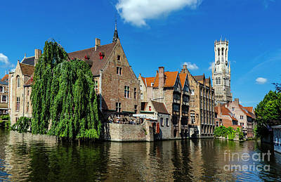 Photograph - Canals Of Bruges by Pravine Chester