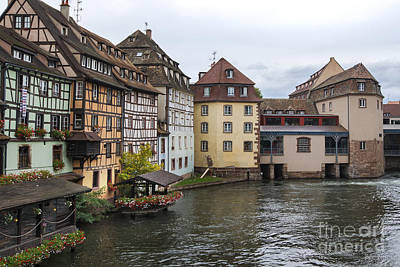 Vineyards Of Alsace Photograph - Canals Of Strasbourg by Yefim Bam