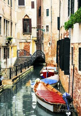 Photograph - Canals Of Venice # 2 by Mel Steinhauer