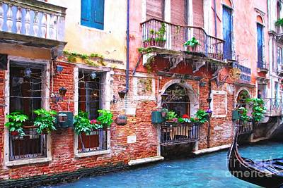 Photograph - Canals Of Venice # 5 by Mel Steinhauer