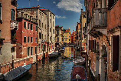 Photograph - Canals Of Venice 002 by Lance Vaughn