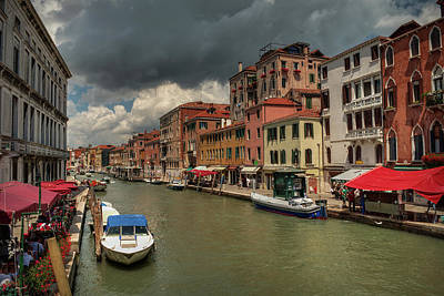 Photograph - Canals Of Venice 003 by Lance Vaughn