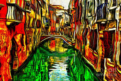 Painting - Canals Of Venice by Milan Karadzic