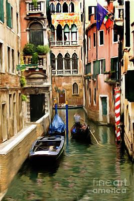 Canals Of Venice Art Print by Susan  Lipschutz