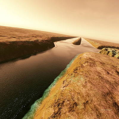 Canals On Mars Art Print