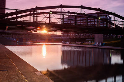 Photograph - Canalside Dawn No 3 by Chris Bordeleau
