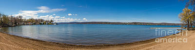 Photograph - Canandaigua Beach Panorama by William Norton