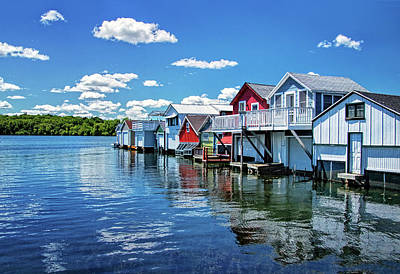 Photograph - Canandaigua Boathouses by Carolyn Derstine