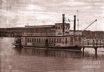Photograph - Canandaigua Lady Steamboat Replica Old Western Effect by Rose Santuci-Sofranko