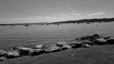 Photograph - Canandaigua Lake B W by Rob Hans