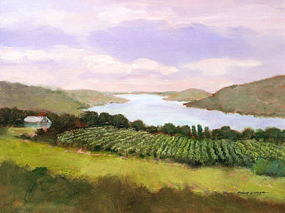 Painting - Canandaigua Lake by J Reifsnyder
