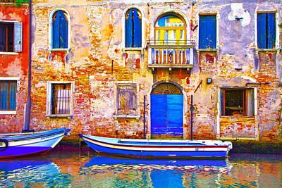 Venice Photograph - Canareggio Boat by Jean-luc Bohin