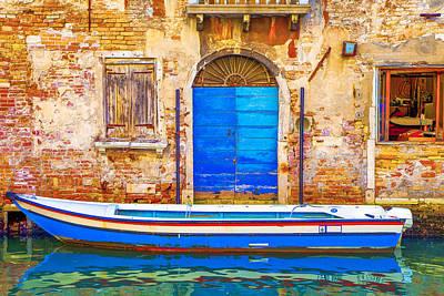 Venice Photograph - Canareggio Palace And Boat by Jean-luc Bohin