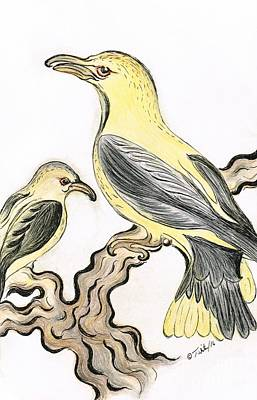 Canary- Birds Art Print by Teresa White