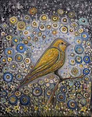 Canary Garden Original by Juliana Lachance