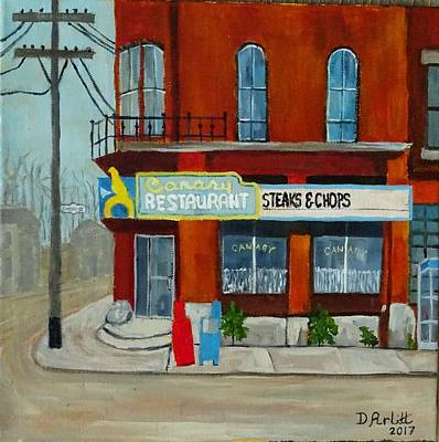 Painting - Canary Restaurant by Diane Arlitt