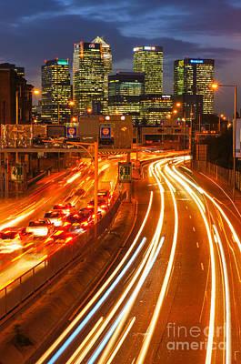 London Congestion Photograph - Canary Wharf 12 by Marcin Rogozinski