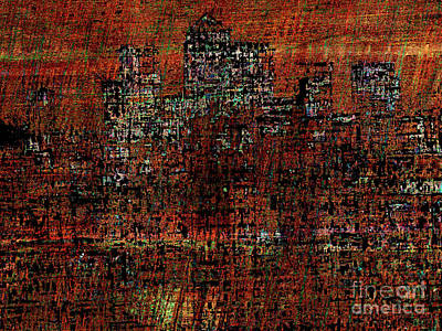Canary Digital Art - Canary Wharf 4 by Andy  Mercer