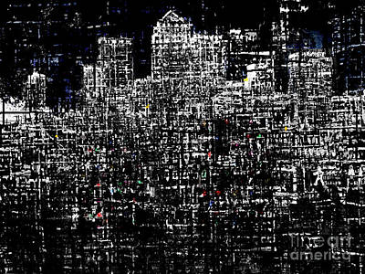 Canary Digital Art - Canary Wharf by Andy  Mercer