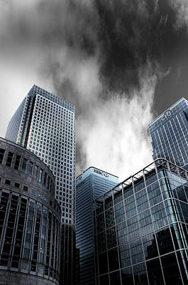 Light And Dark Photograph - Canary Wharf by Martin Newman