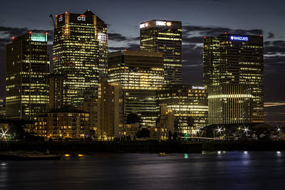 Print featuring the photograph Canary Wharf by Ryan Photography