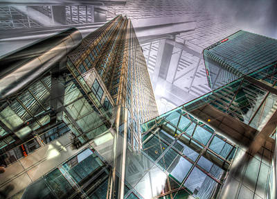 Photograph - Canary Wharf Tower Abstracts by David Pyatt