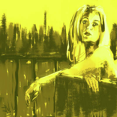 Digital Art - Canary Yellow by Jim Vance