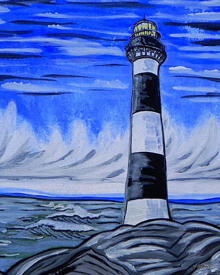 Cape Florida Lighthouse Painting - Canaveral Lighthouse by W Gilroy
