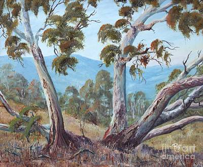 Painting - Canberra Hills by Ryn Shell