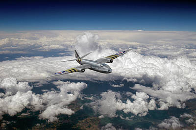 Photograph - Canberra Over The Med by Gary Eason