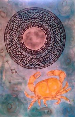 Zodiac Mixed Media - Cancer by Jennie Hallbrown