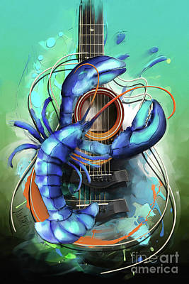 Acoustic Guitar Painting - Cancer by Melanie D