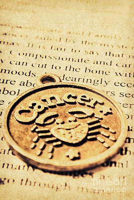 Necklace Photograph - Cancer Star Sign Art by Jorgo Photography - Wall Art Gallery