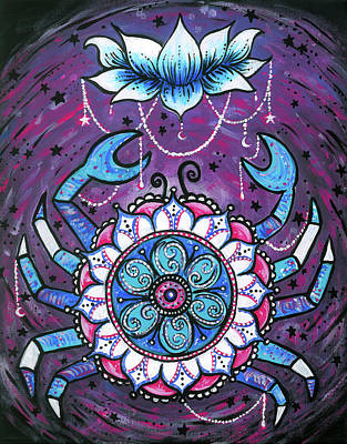 Zodiac Painting - Cancer  by Julie Weatherley