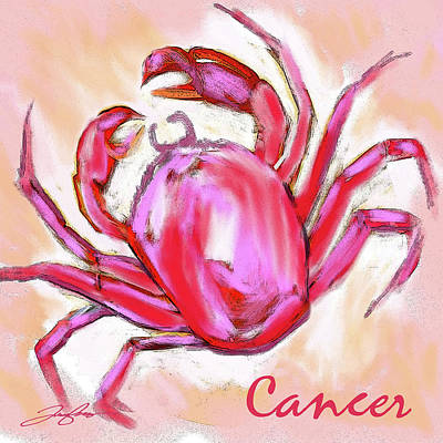 Cancer The Crab Art Print